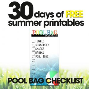 free summer printables | pool bag checklist | organize your pool bag | free printables