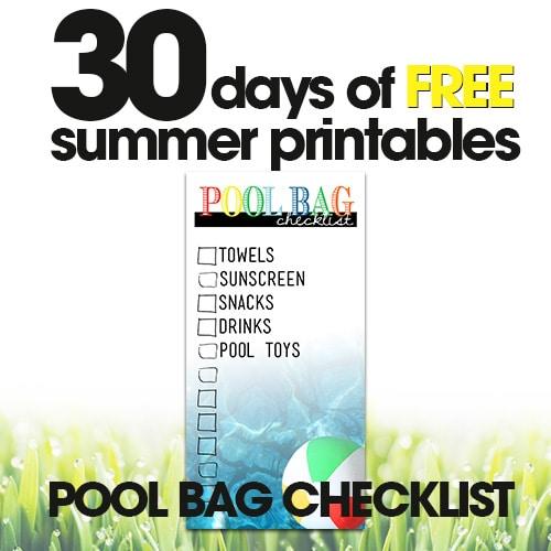 Pool Bag Checklist | Free Summer Printables Day #4