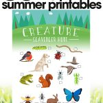 free summer printables   creature scavenger hunt   fun outdoor activities for kids   free printables