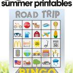 free summer printables | travel car games for kids| road trip bingo | free printables