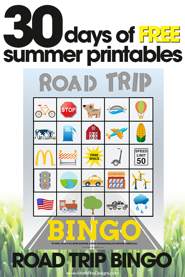 image relating to Road Trip Bingo Printable named Highway Holiday Bingo Free of charge Summer months Printable Match for Little ones