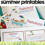 free summer printables   kid's summer activity planner   fun kid's summer activities   free printable