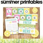 free summer printables   DIY lemonade stand   homemade lemonade stand for kids   free printable