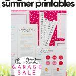 free summer printables | garage sale kit | organize your garage sale | free printables