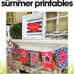 4th of July banner | printable 4th of July banner | 4th of July party decorations | free printable
