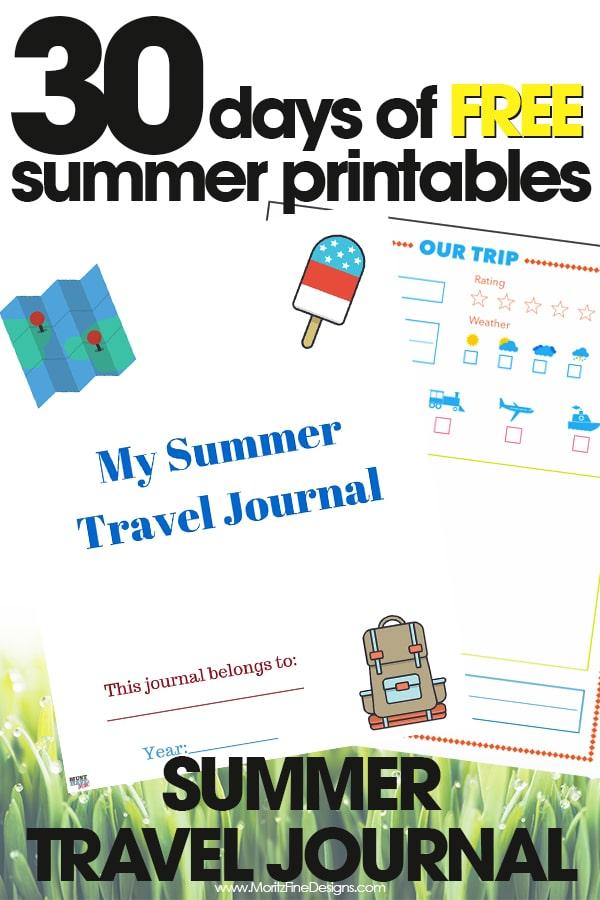 summer travel journal