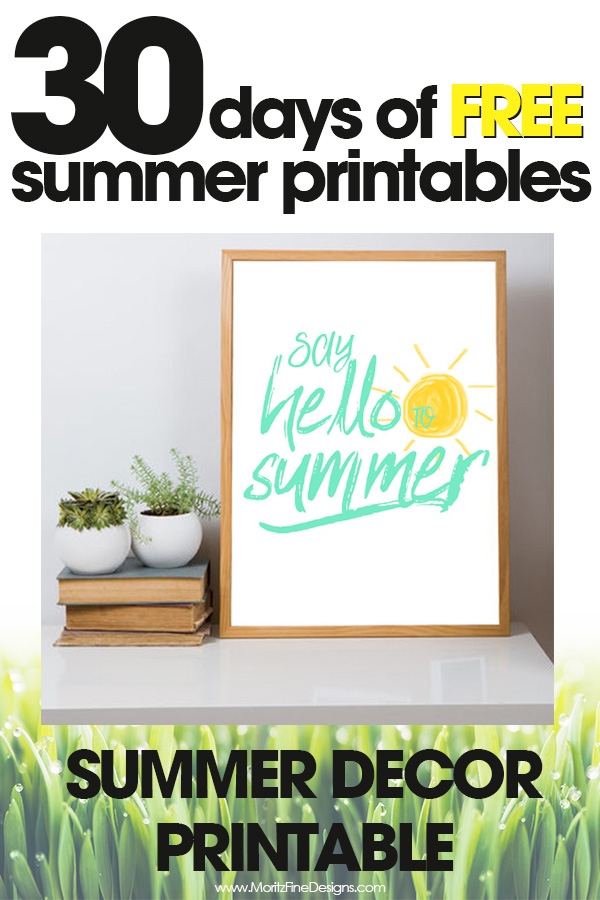 free summer printables | summer decor for your home | say hello to summer | free printables