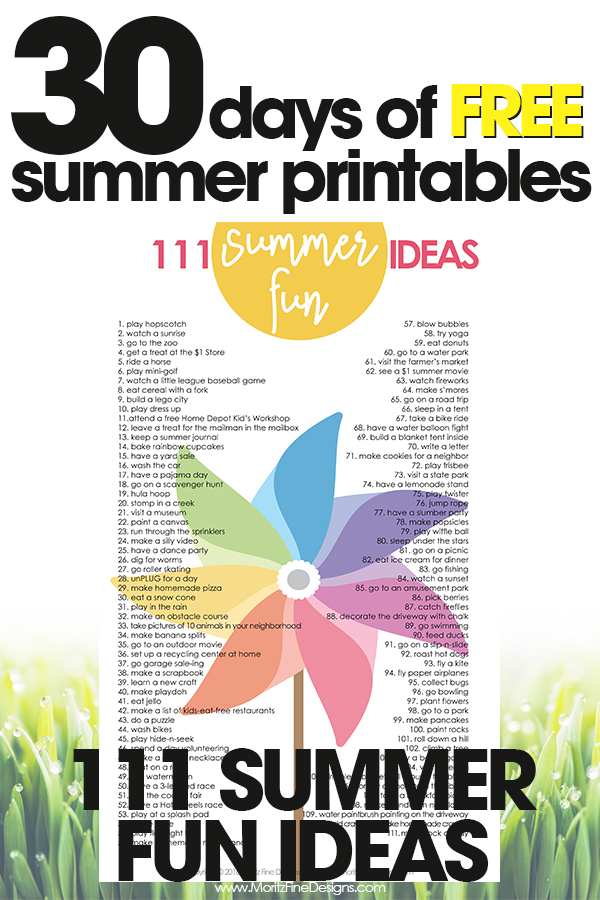 free summer printables   fun kid summer activities   summer bucket list   free printables
