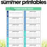 free summer printables | outdoor planting tracker | organize your garden | free printables