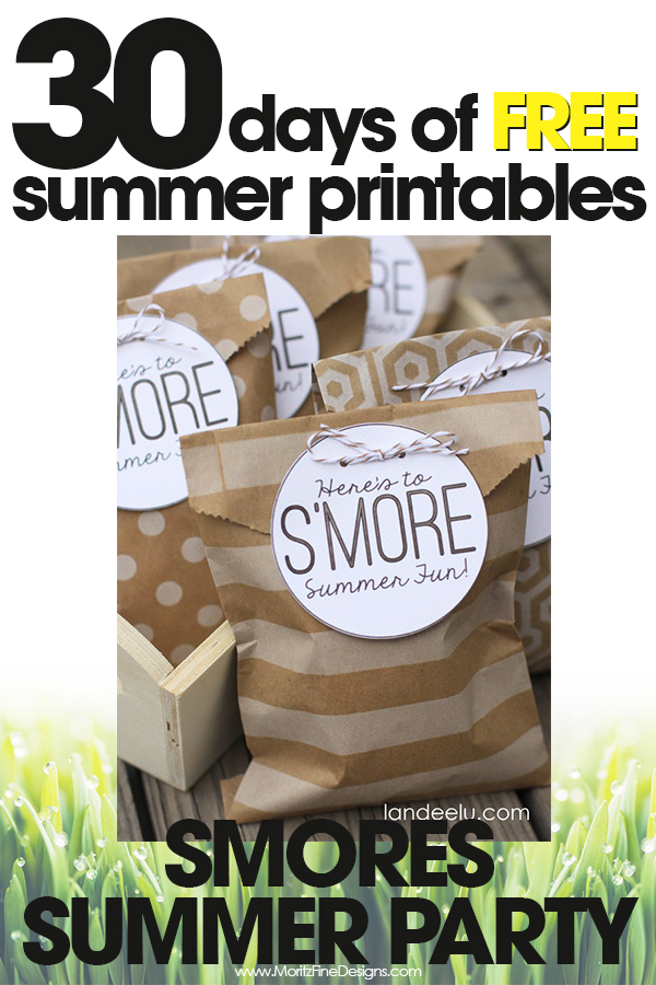 S'mores Summer Party | Free Summer Printable Day #30 ...