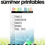 free summer printables   printable pool bag checklist   organize your pool bag   free printables