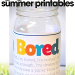free summer printables | summer bored jar | fun kid's summer activities| free printable
