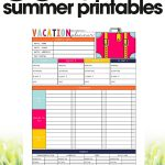 free summer printables | vacation planner | organize your vacation | free printable