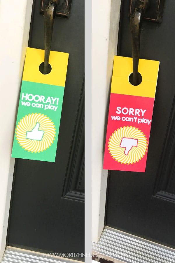 free summer printables | play time door hanger | kids play time notification | free printables