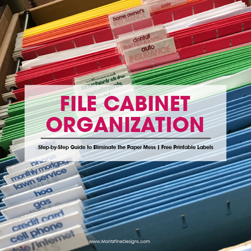 Get Your File Cabinet Organized Like a Pro