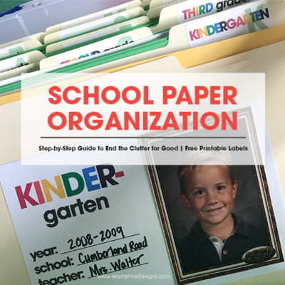 Simple Steps to Organize Your Kid's School Papers for Good!