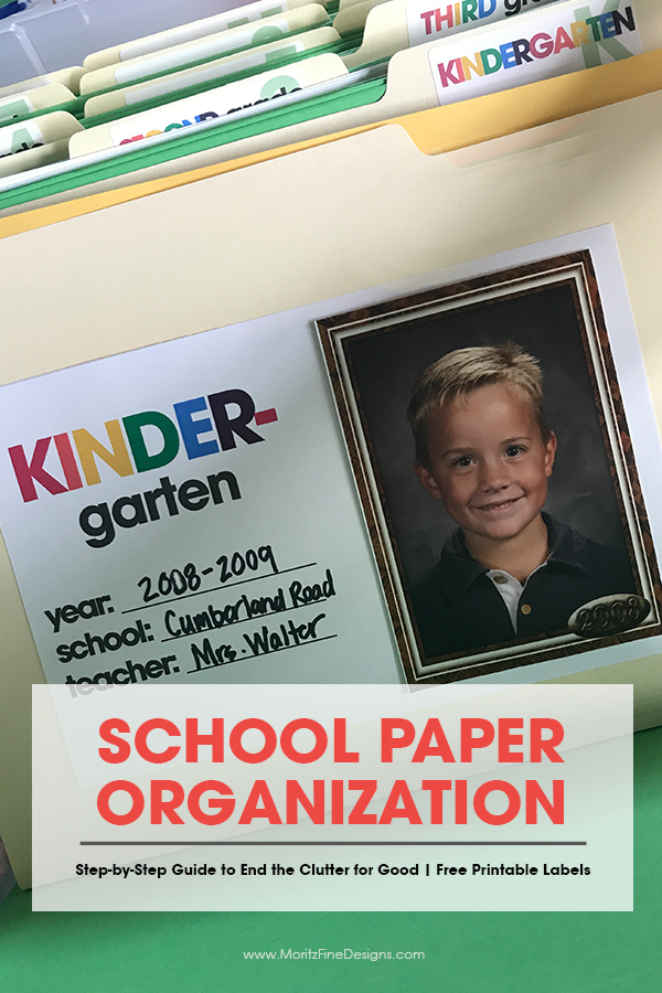 school paper organization | free printable organizing labels | how to organize your kid's papers | organizing school paper ideas