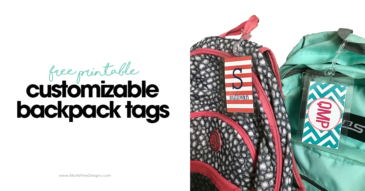graphic relating to Printable Backpack Tags titled Cost-free Customizable Backpack Tags Do-it-yourself Backpack Tags for Small children