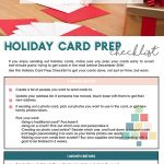 How to Send a Frugal Holiday Card | Free Printable Holiday Card Checklist | Christmas Card Prep Checklist | Step-by-step guide to sending holiday cards.