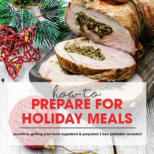 How to Prepare for Holiday Meals