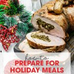 How to Prepare for Holiday Meals | secrets to getting your food organized & prepared | free printable included | Thanksgiving & Christmas food preparation