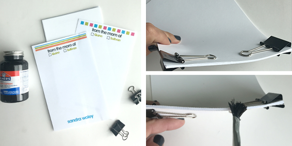 DIY Personalized School Notes from Mom | free printables | getting mom organized | school organization | how to make a notepad