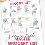 Master Grocery List | Free Printable Weekly Shopping List | Free Printable | Tips to keeping your pantry well stocked