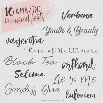 10 Free Whimsical Fonts