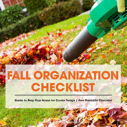 Fall Organization check list