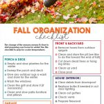 Fall Organization Checklist | Free Printable | Get your home in order for winter | Step-by-Step Guide to winterizing your home
