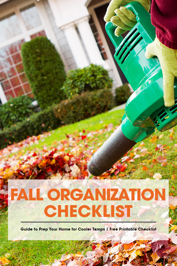 When fall comes along that means there is lots of outdoor (and a little indoor) preparation to make sure your home and yard are ready for the upcoming winter season. I love to use the Fall Organization Checklist to make sure I have taken care of all my winter prep needs. #fallorganization