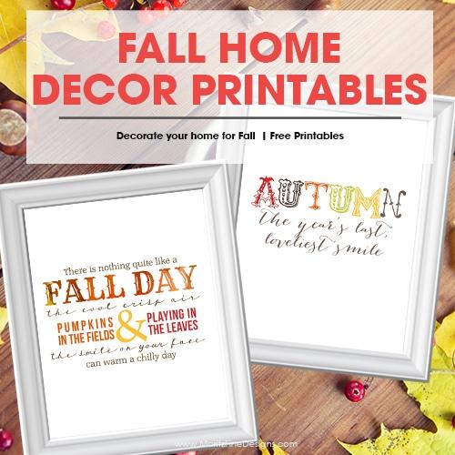 Fall/Autumn Free Printables