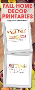 Fall Home Decor Printable | Free Autumn Printable Phrases | Decorate Your Home | Free Fall Printables for the Home
