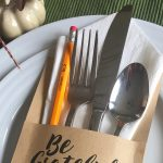 Thanksgiving Utensil Holder | Free Printable Silverware Holder | Grateful list | Create your list of gratitude