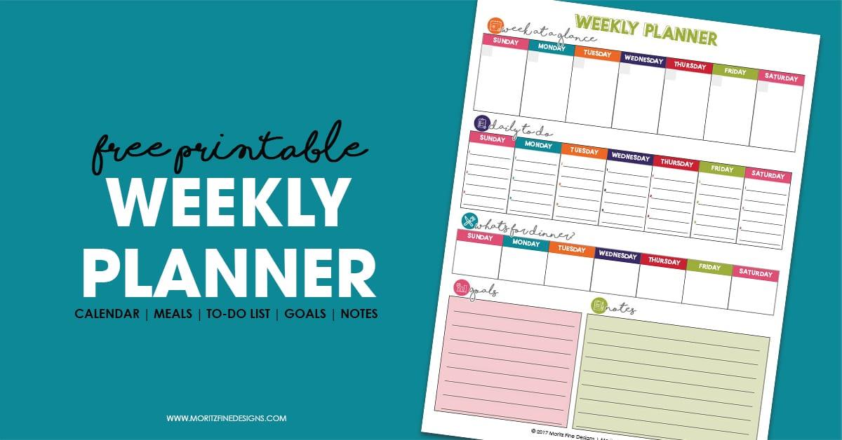 Weekly Planner // Free Printable to get your week organized | Organization Tips & Tricks
