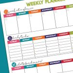 Weekly Planner // Free Printable to get your week organized | Organization Tips & Tricks