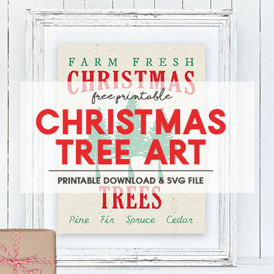 Christmas Tree Art Printable {Pottery Barn Knockoff!}