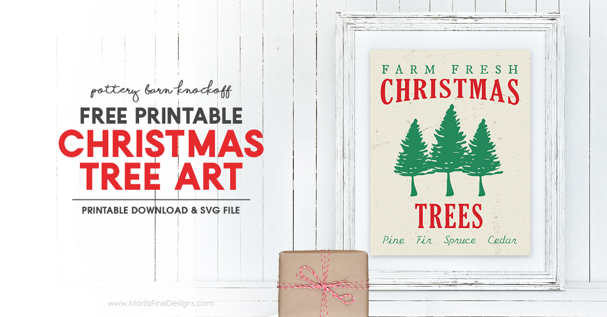 Christmas Tree Svg Free Download.Christmas Tree Art Printable Pottery Barn Knockoff