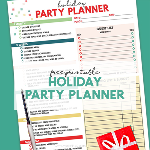 Free Printable Holiday Party Planner