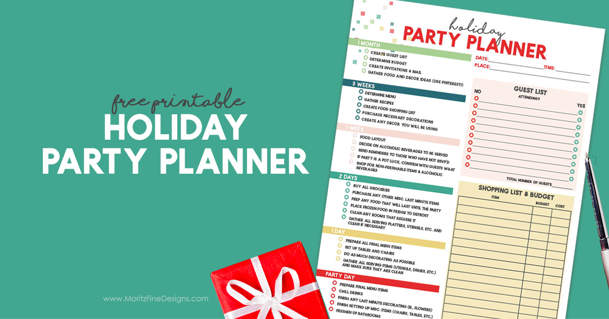 Holiday Party Planner | Free Checklist to Prepare for Parties