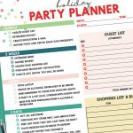 The perfect free printable Holiday Party Planner is all you need to host the perfect party. This step-by-step guide will help you prepare for Thanksgiving, Christmas and New Year's Eve parties!