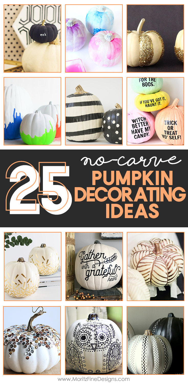 25 No-Carve Pumpkin Decorating Ideas