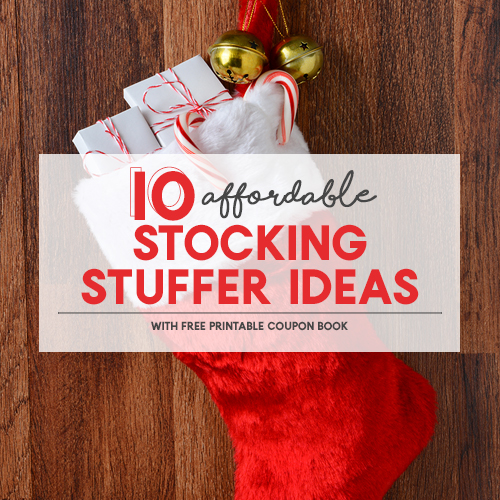 10 Affordable Stocking Stuffer Ideas + Printable Christmas Coupon Book for Kids