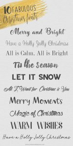 These best free Christmas holiday fonts are perfect for crafting, creating Christmas cards, making Christmas printables and more.