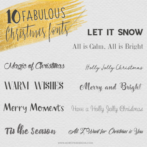 10 Fabulous Free Christmas Fonts