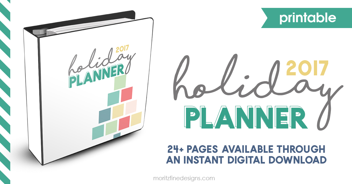 Printable Holiday Planner | Thanksgiving & Christmas Organizer | Holiday Checklists | Holiday Guide for Menu Planning, Budgeting, Gift Buying & more
