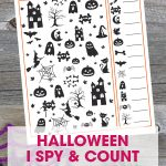 Free Printable Halloween I Spy Game for Kids | Fun and Free Halloween Activity | Simple Halloween Math Counting Game