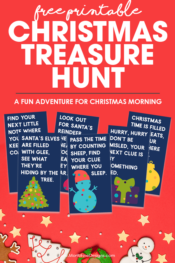 graphic relating to Christmas Scavenger Hunt Printable Clues known as No cost Printable Xmas Treasure Hunt Entertaining Game for Little ones