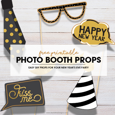 New Year's Eve Photo Booth Props