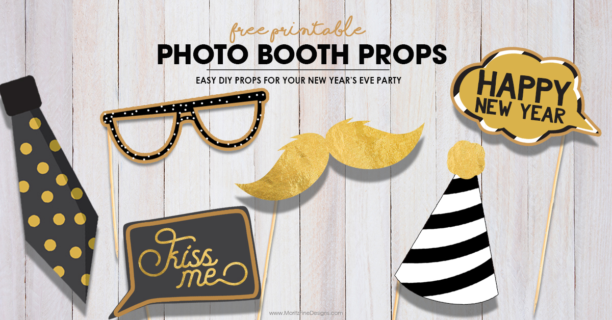 New Years Eve Photo Booth Props Free Diy Printable